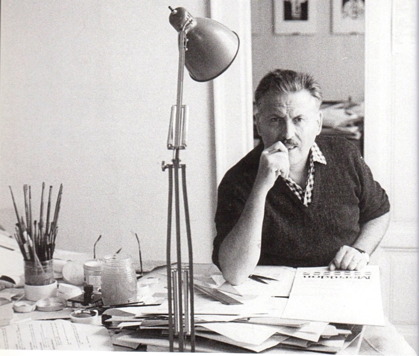 Franco Grignani at work, 1964
