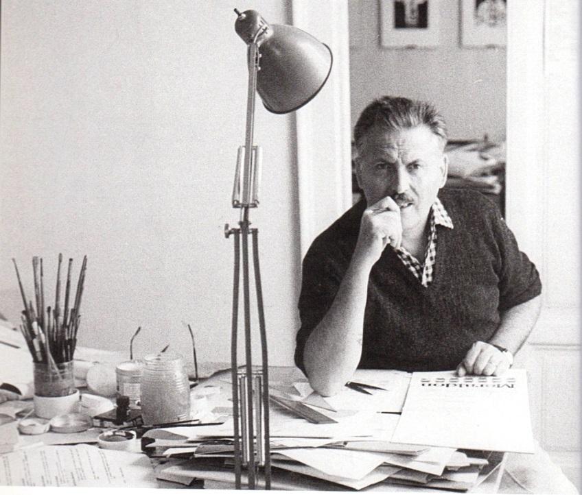 Franco Grignani at work, 1964