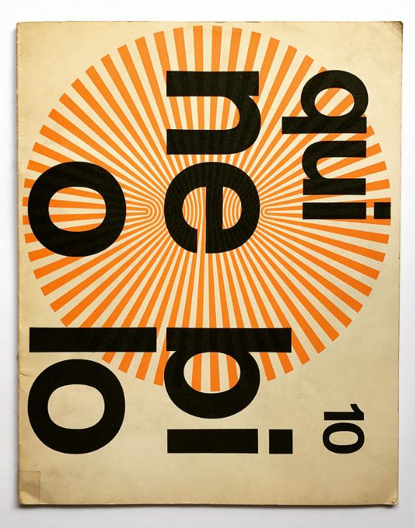 Franco Grignani, cover for Forma - typeface special issue - Società Nebiolo, Torino, 1969