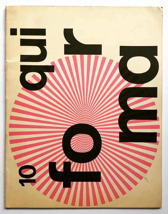 Franco Grignani, back cover for Forma - typeface special issue - Società Nebiolo, Torino, 1969