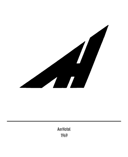 Franco Grignani, AerHotel logo, 1969