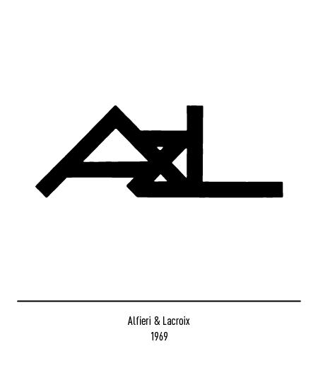 Franco Grignani, Alfieri & Lacroix logo, 1964