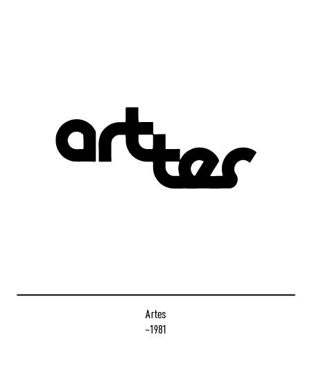 Franco Grignani, art-tes logo, 1981
