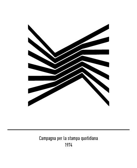 Franco Grignani, Campagna per la stampa quotidiana logo, 1974