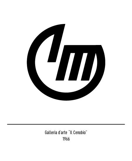 Franco Grignani, Galleria d'Arte Il Cenobio logo, 1966