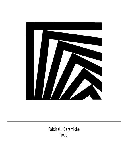 Franco Grignani, Falcinelli Ceramiche logo, 1972