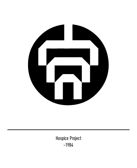 Franco Grignani, Hospice Project logo, 1984