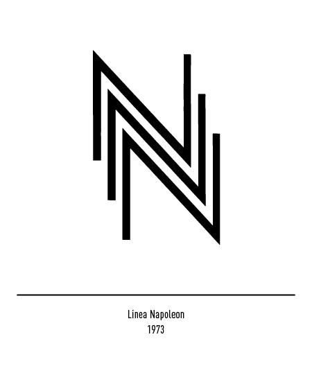 Franco Grignani, Linea Napoleon logo, 1973