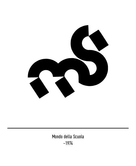 Franco Grignani, Mondo della Scuola logo, 1974
