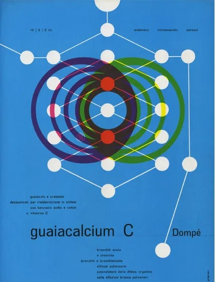 Franco Grignani, Ad for Dompé pharmaceutics, 1949