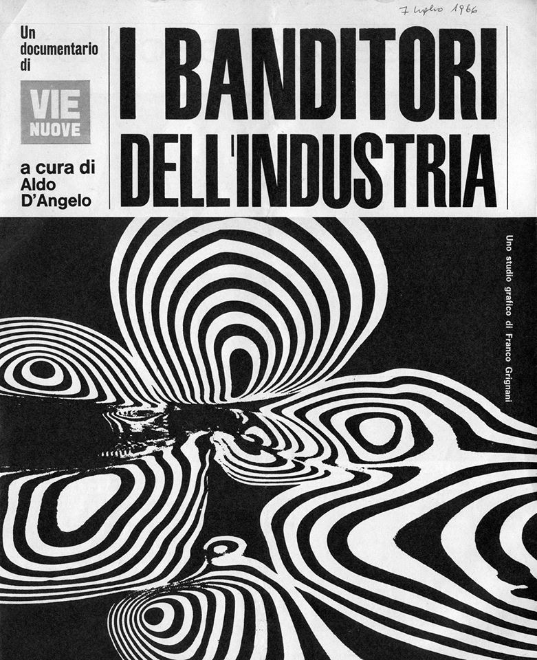 Franco Grignani, cover for I banditori dell'industria, 1966