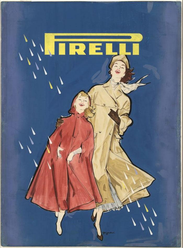 Jeanne Grignani, Ad for Pirelli, 50s
