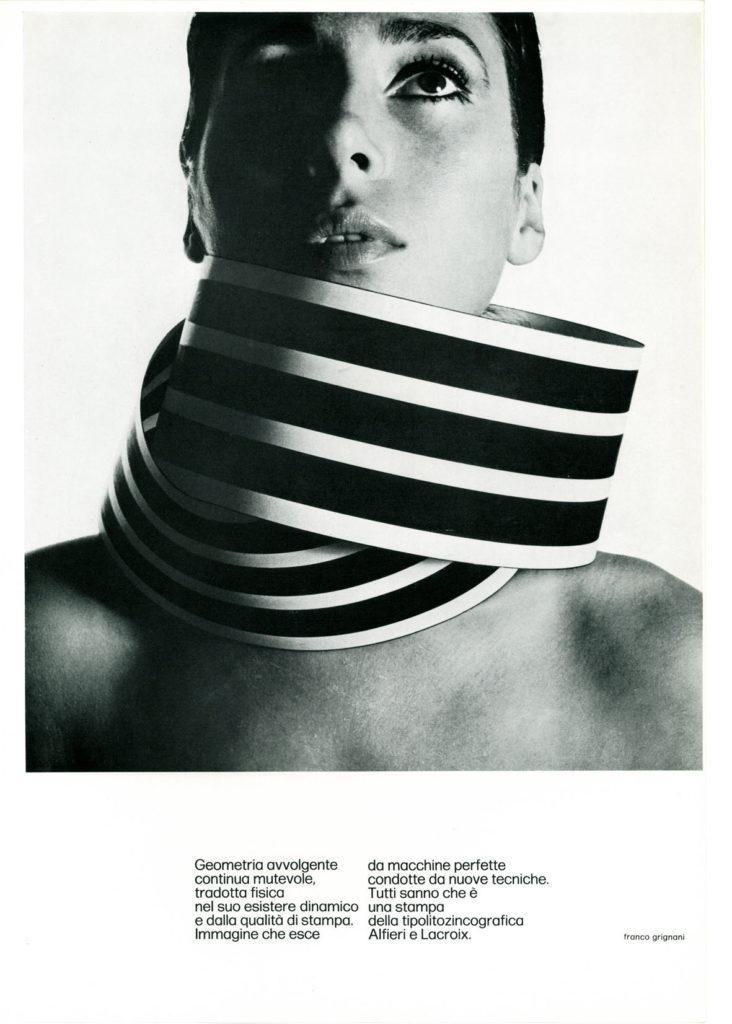 Franco Grignani, Ad for Alfieri & Lacroix, 1971
