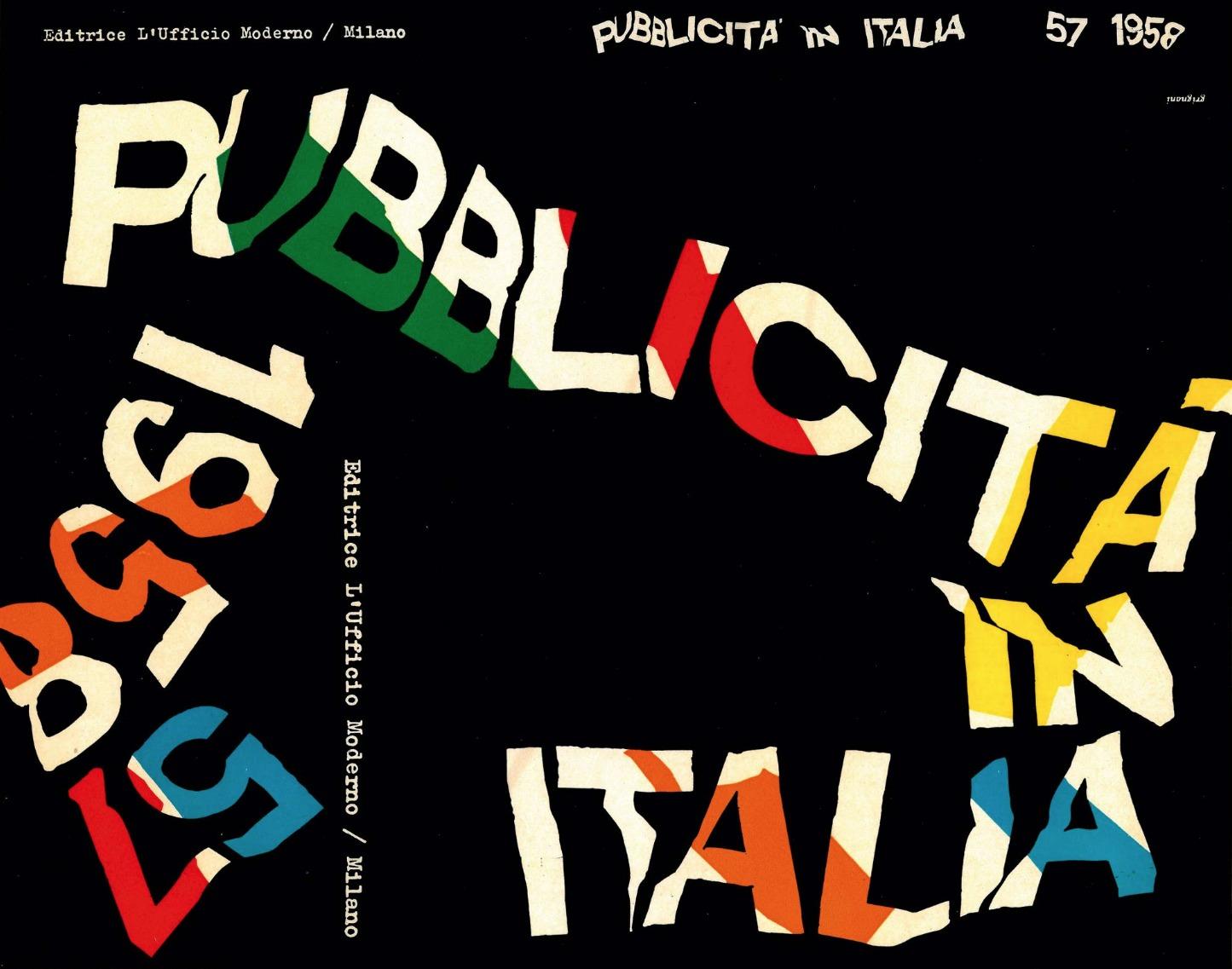 Franco Grignani, Pubblicità in Italia, 1958