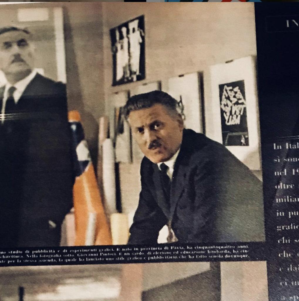 Franco Grignani in his studio