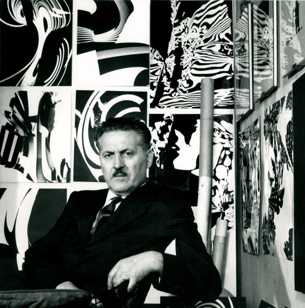 Franco Grignani in his studio, 1959