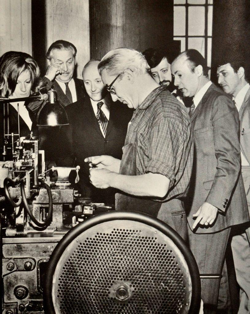 Franco Grignani and the Dream Team in Nebiolo, 1969