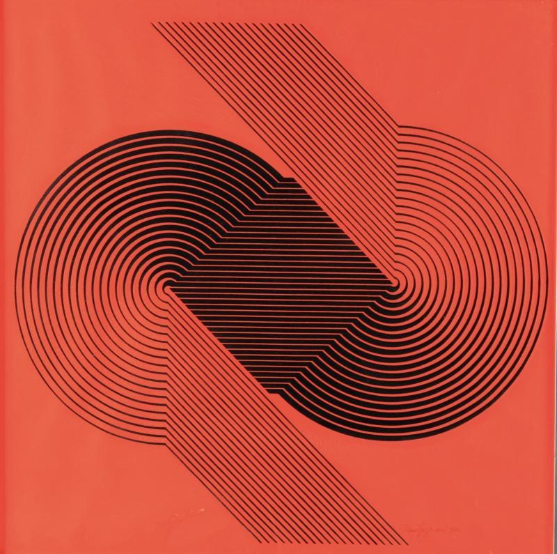 Franco Grignani, Silk-Screen Print, 1970