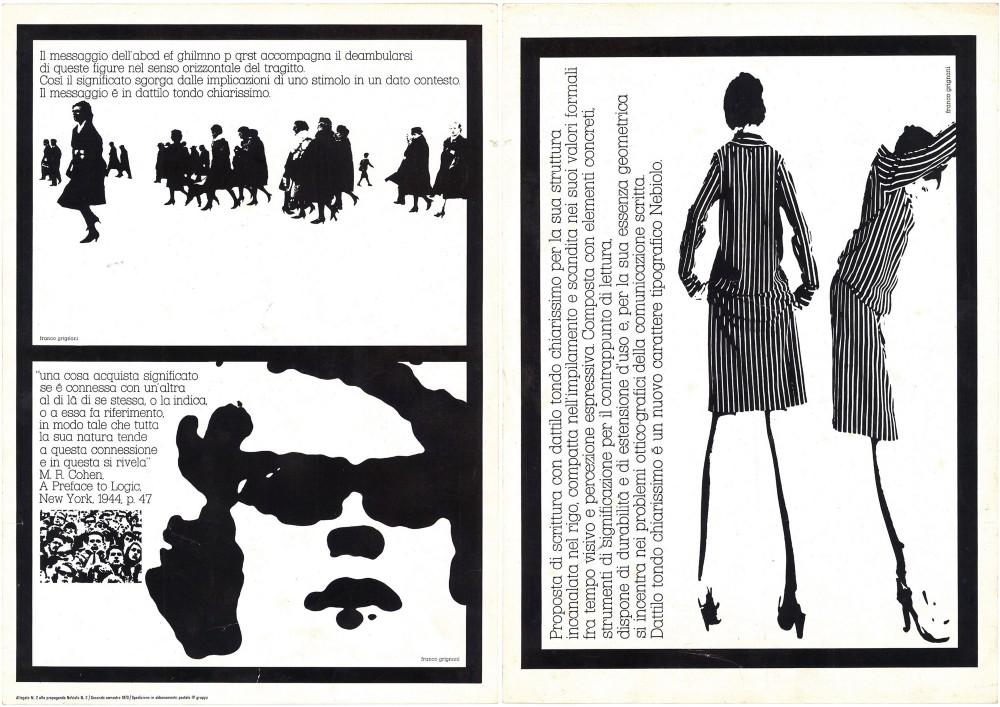 Franco Grignani, Dattilo tondo chiarissimo, 1972