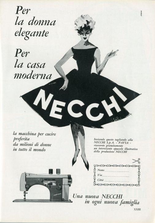 Franco & Jeanne Grignani, Ad for Necchi, 1958