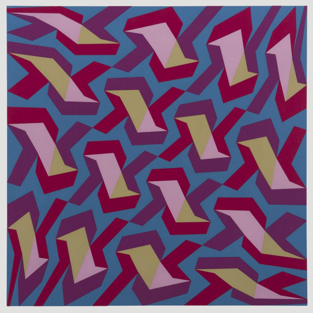Franco Grignani, Hyperbolic diagonals, 1988