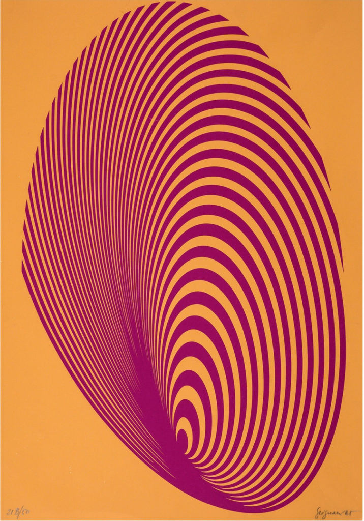 Franco Grignani, Silk-Screen Print, 1965