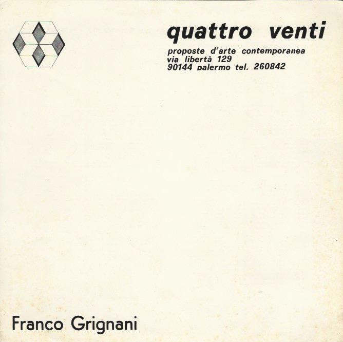 Franco Grignani, Galleria Quattro Venti, 1975