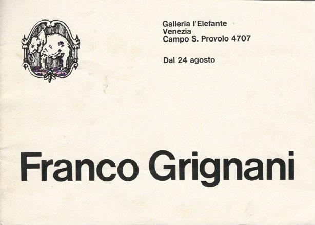 Franco Grignani, Galleria L'Elefante, 1968