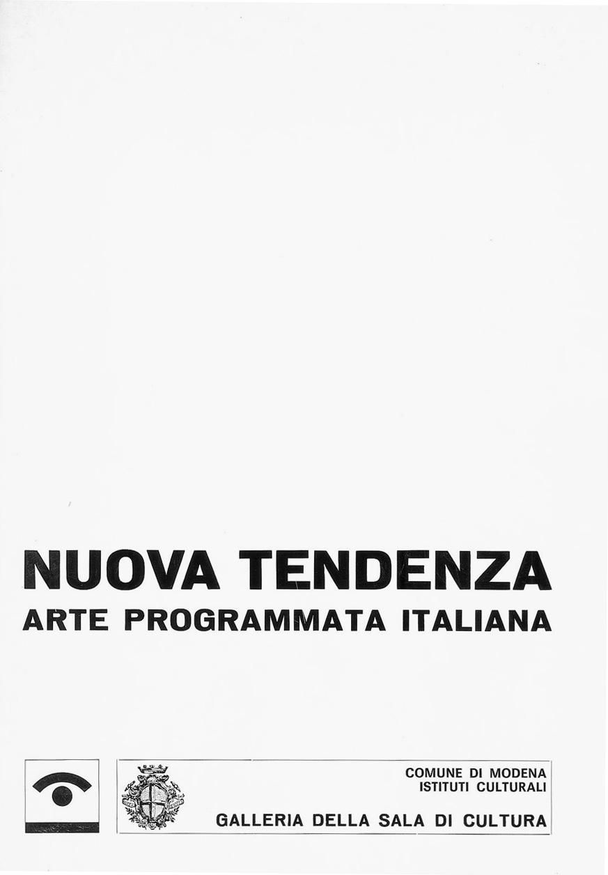 Franco Grignani, Nuova tendenza. Arte Programmata italiana, Modena, 1967