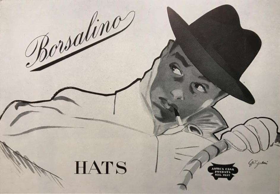 Jeanne Grignani, Ad for Borsalino, 1950