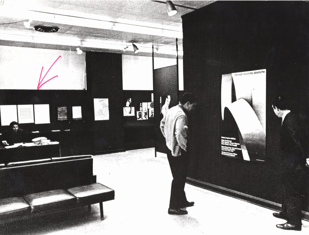 Franco Grignani, 500-D Gallery, Chicago, 1970