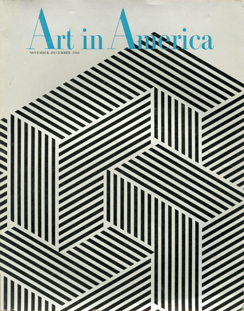 Franco Grignani, cover for Art in America, 1966