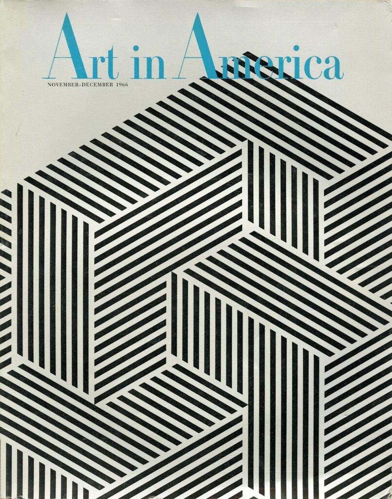 Franco Grignani, cover for Art in America, 1966
