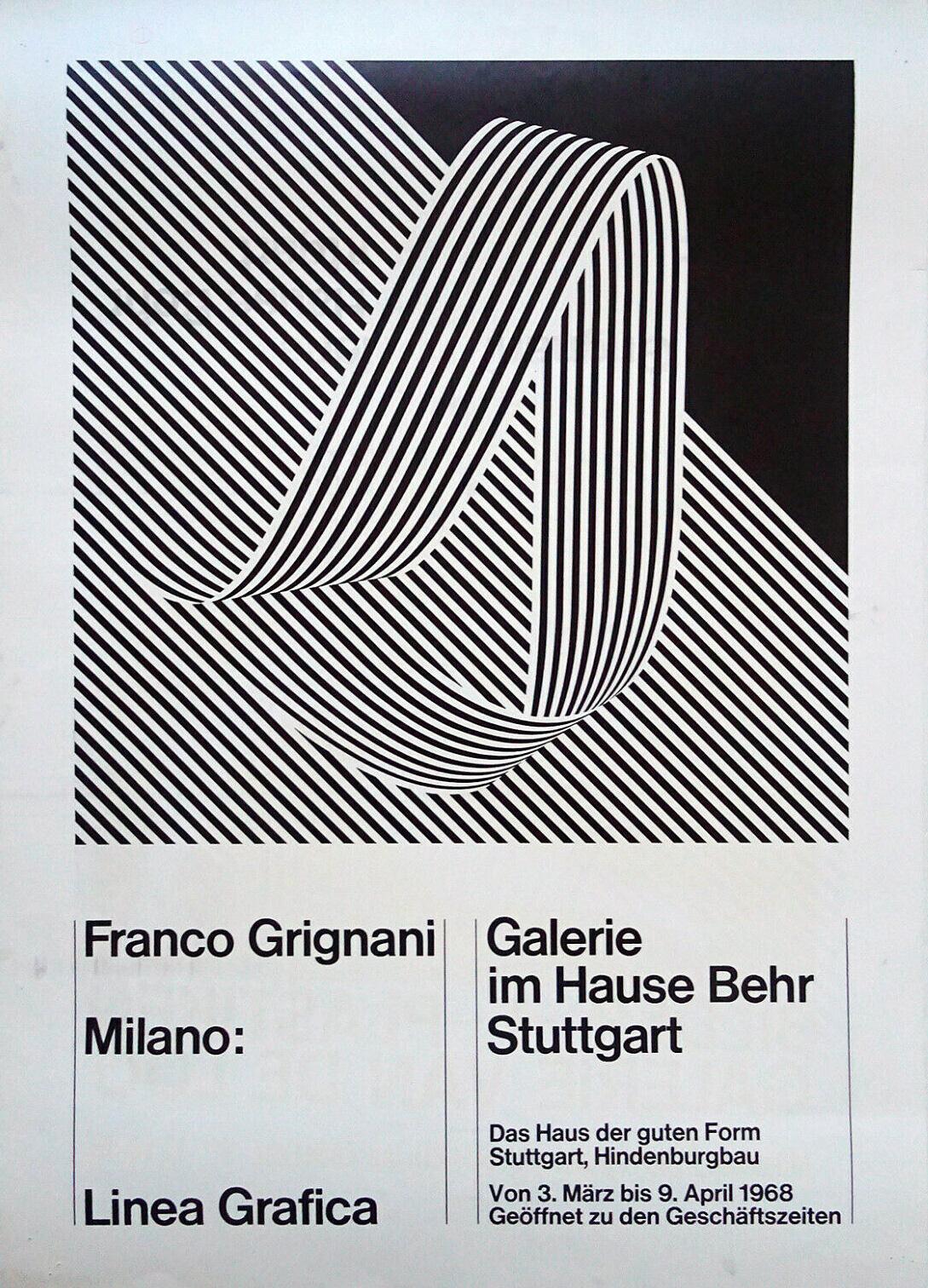 Franco Grignani, Galerie im Hause Behr, 1968