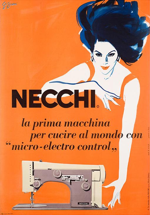 Franco & Jeanne Grignani, Ad for Necchi, 50s