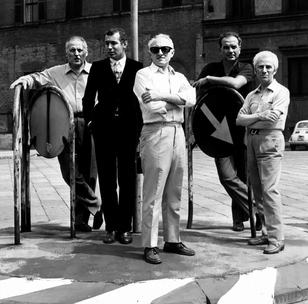 Gruppo ED (Exhibition Design): Franco Grignani, Giulio Confalonieri, Silvio Coppola, Bruno Munari, and Pino Tovaglia, ca. 1969