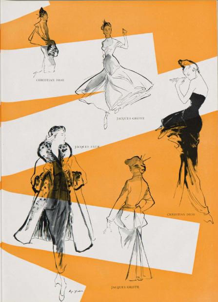 Jeanne Grignani, sketches for Bellezza d'Italia, 1948