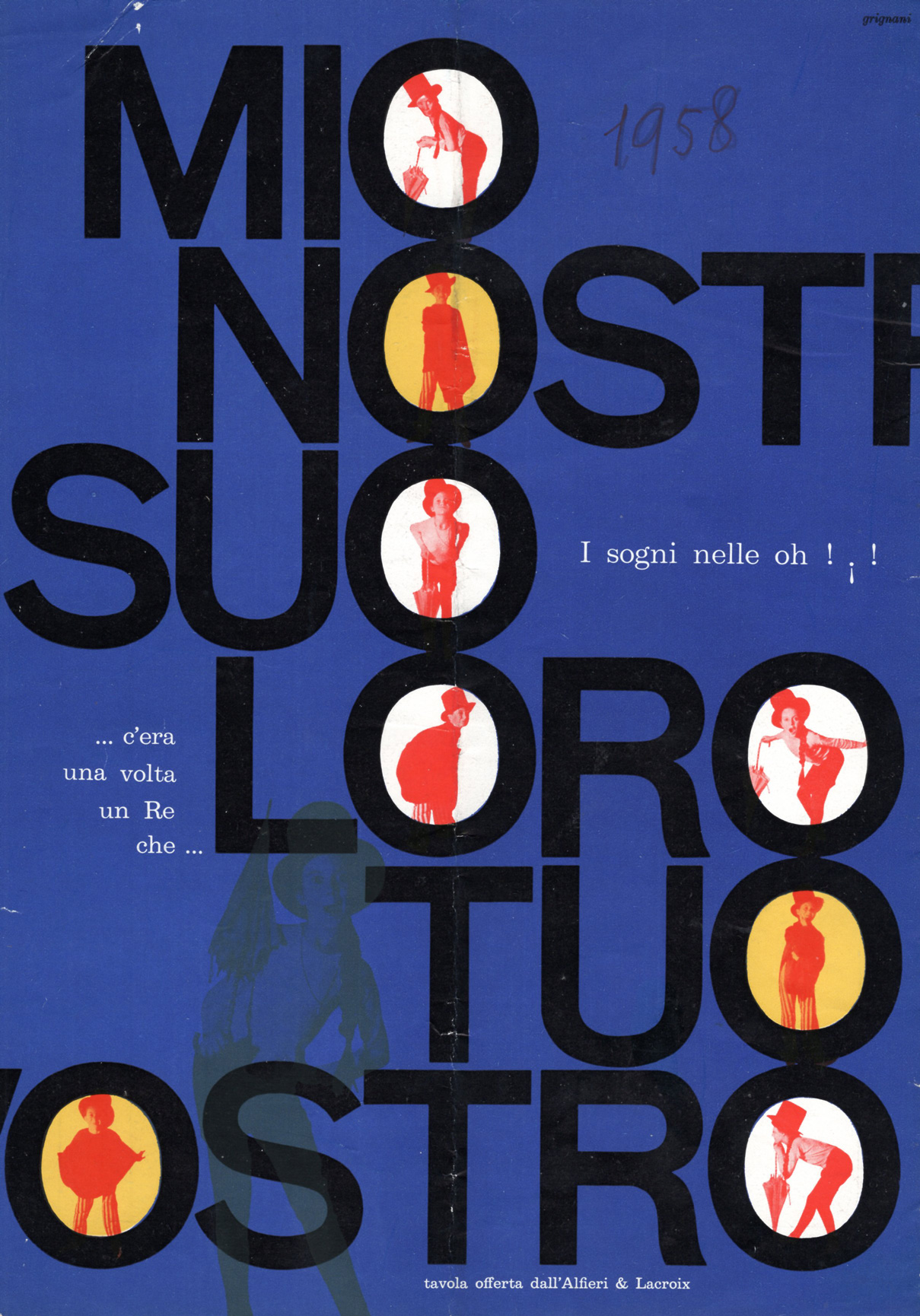 Franco Grignani, Ad for Alfieri & Lacroix, 1958
