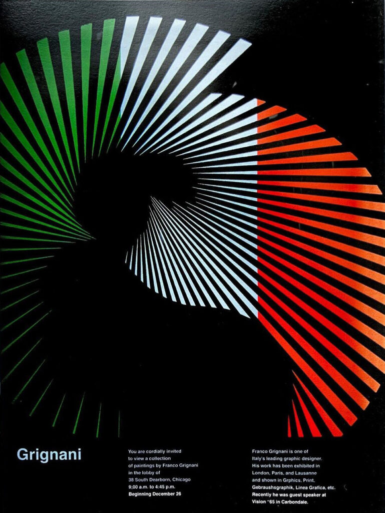 Franco Grignani, CCA Gallery, 1965, poster by John Rieben