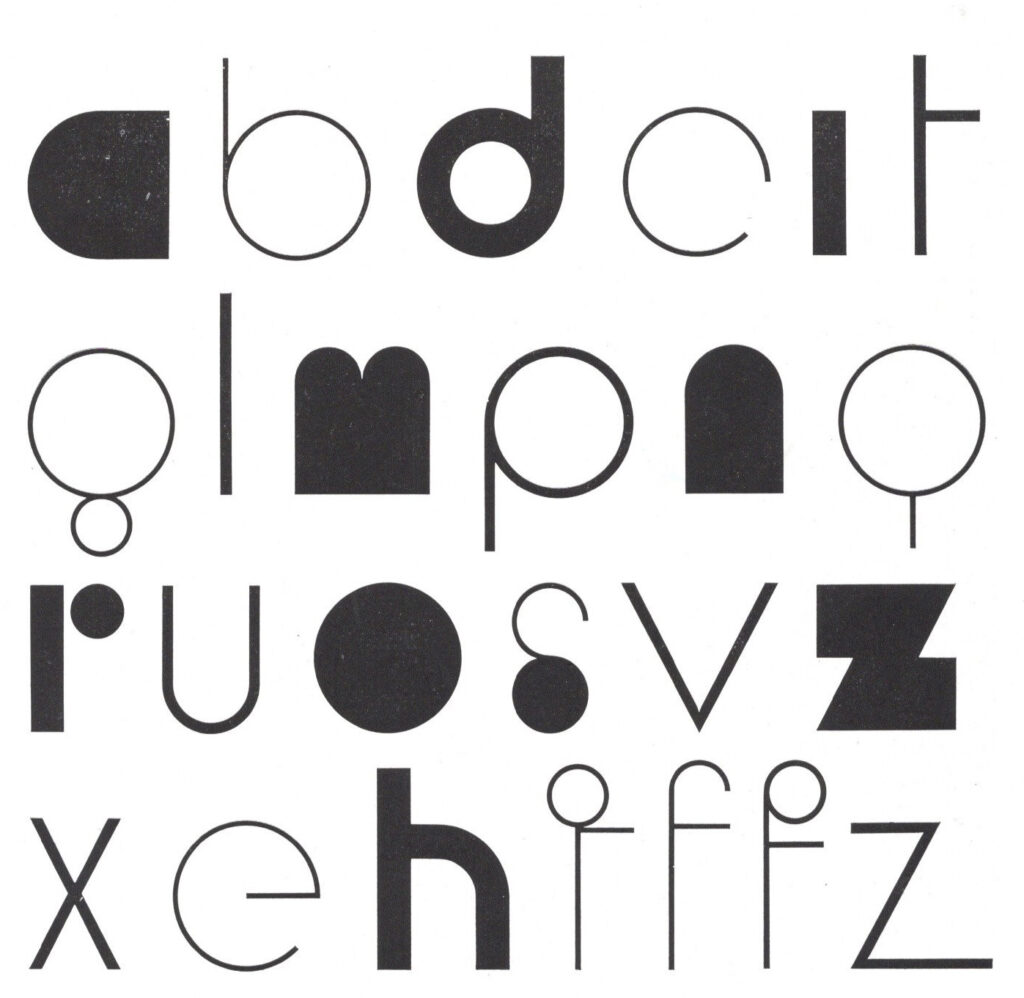 Franco Grignani, an experimental typeface