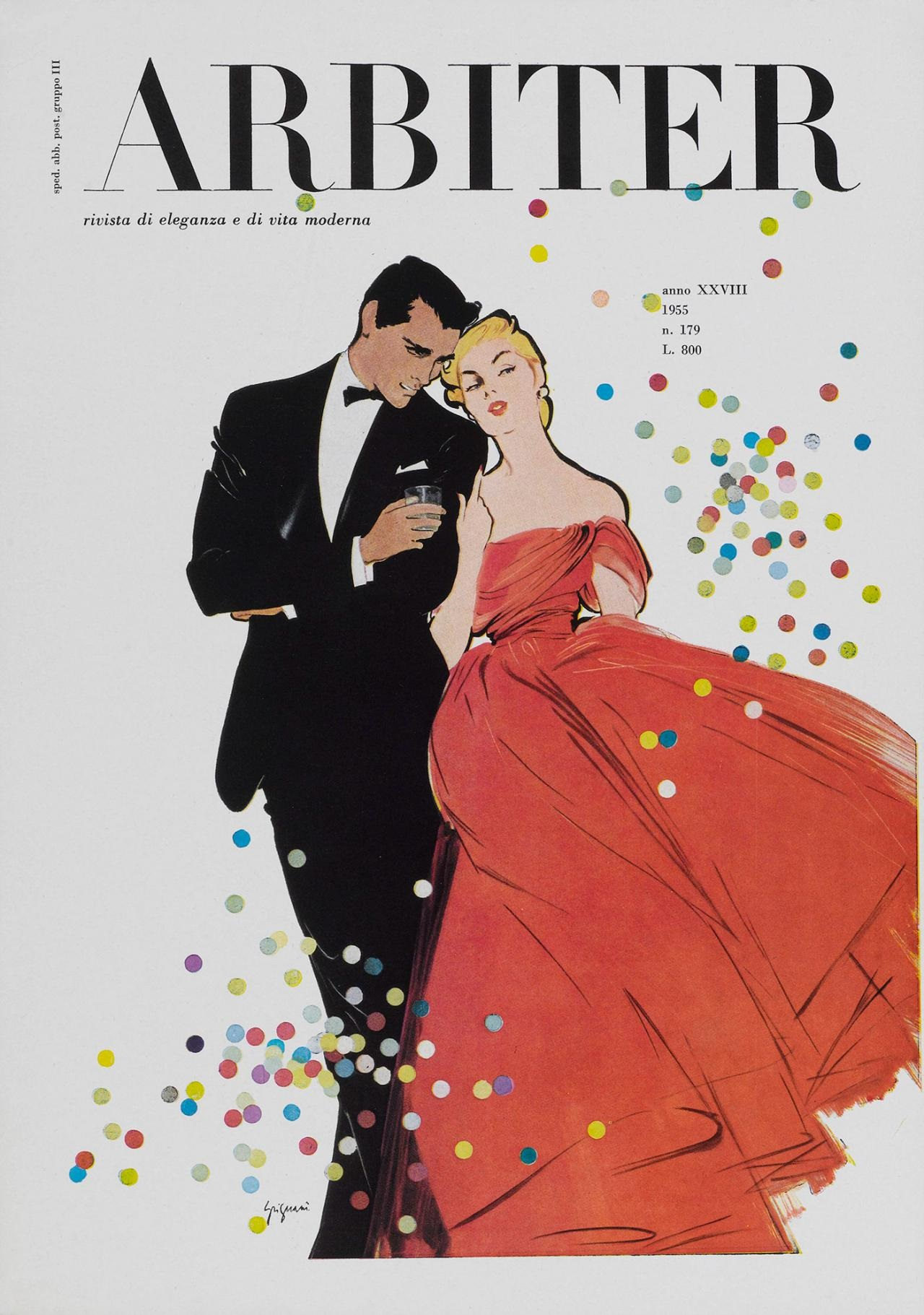 "Jeanne Grignani, cover for Arbiter, ""magazine of elegance and modern life"", 1955"