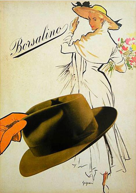 Jeanne Grignani, Ad for Borsalino, 50s