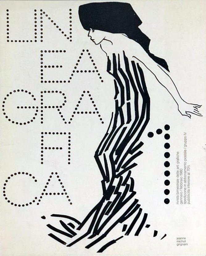 Jeanne Grignani, cover for Linea Grafica, 1980