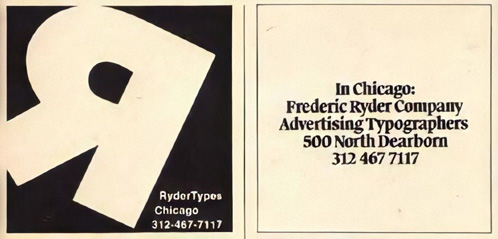 500d, Ad from U&lc, 1975