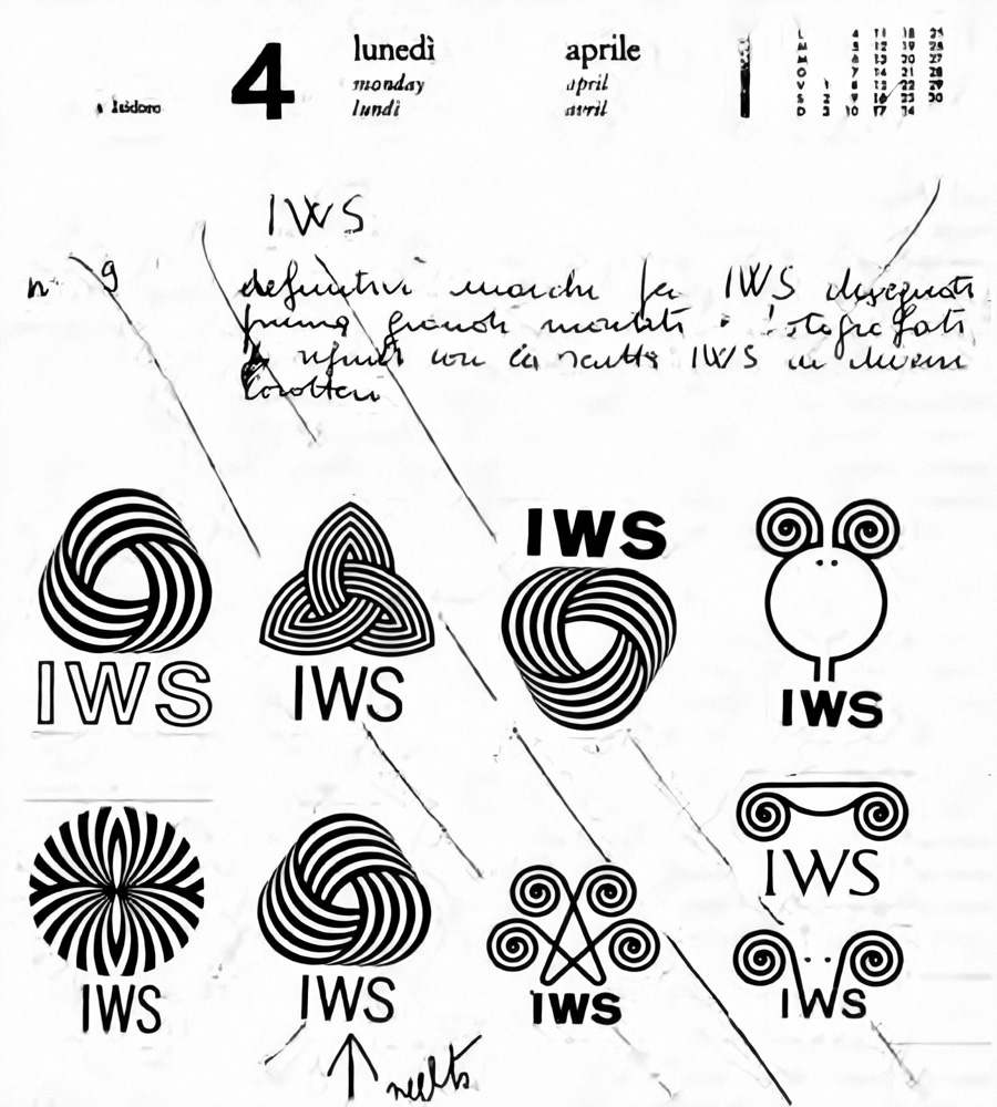 Page from the Franco Grignani's old Olivetti agenda of 1960
