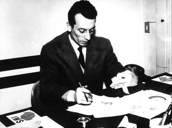 Francesco Saroglia depicted in 1965