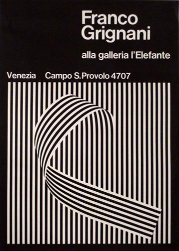 Franco Grignani alla galleria l′Elefante, Venezia, 1966