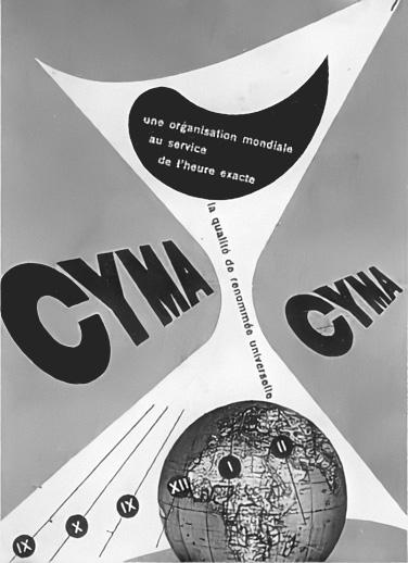 Franco Grignani, Ad for Cyma, 1946