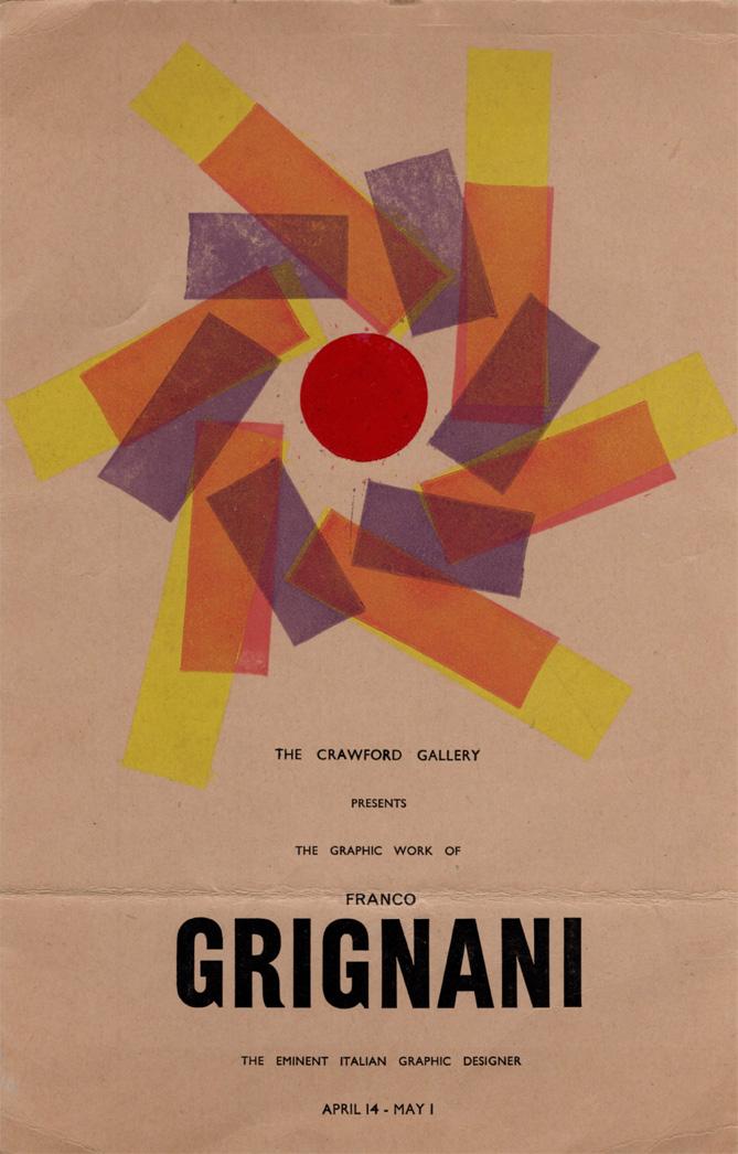 Franco Grignani, Crawford Gallery, 1958