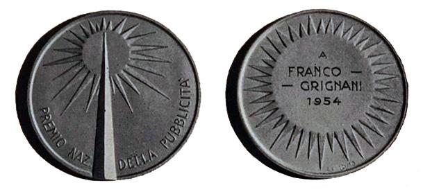 Premio Nazionale della Pubblicità to Franco Grignani, 1954
